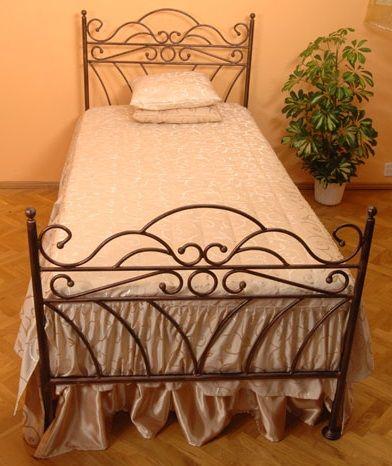 3befd6868ed5 Kovová postel Viking 90 x 200 cm - barva černá - Nábytek.cz