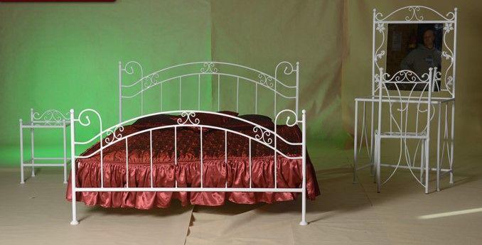 21db260372da Kovová postel Scarlet 120 x 200 cm - barva bílá - Nábytek.cz